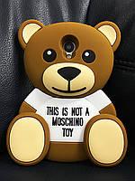 Силиконовый чехол Медведь Mocshino Meizu M3, Мишка