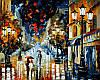 Раскраски для взрослых 40×50 см. Дождь Художник Леонид Афремов