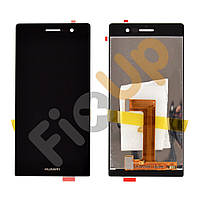 Дисплей Huawei P7 Ascend с тачскрином в сборе, цвет черный, копия высокого качества