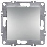 Выключатель одноклавишный самозажимной Schneider Electric Asfora 10А Алюминий EPH0100161