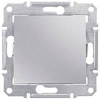 Выключатель одноклавишный проходной Schneider Electric Sedna 10А Алюминий SDN0400160