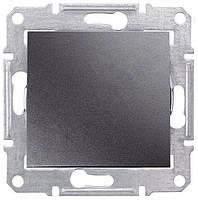Выключатель одноклавишный проходной Schneider Electric Sedna 10А Графит SDN0400170