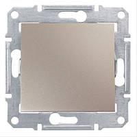 Выключатель двухполюсный одноклавишный Schneider Electric Sedna 10А Титан SDN0200168