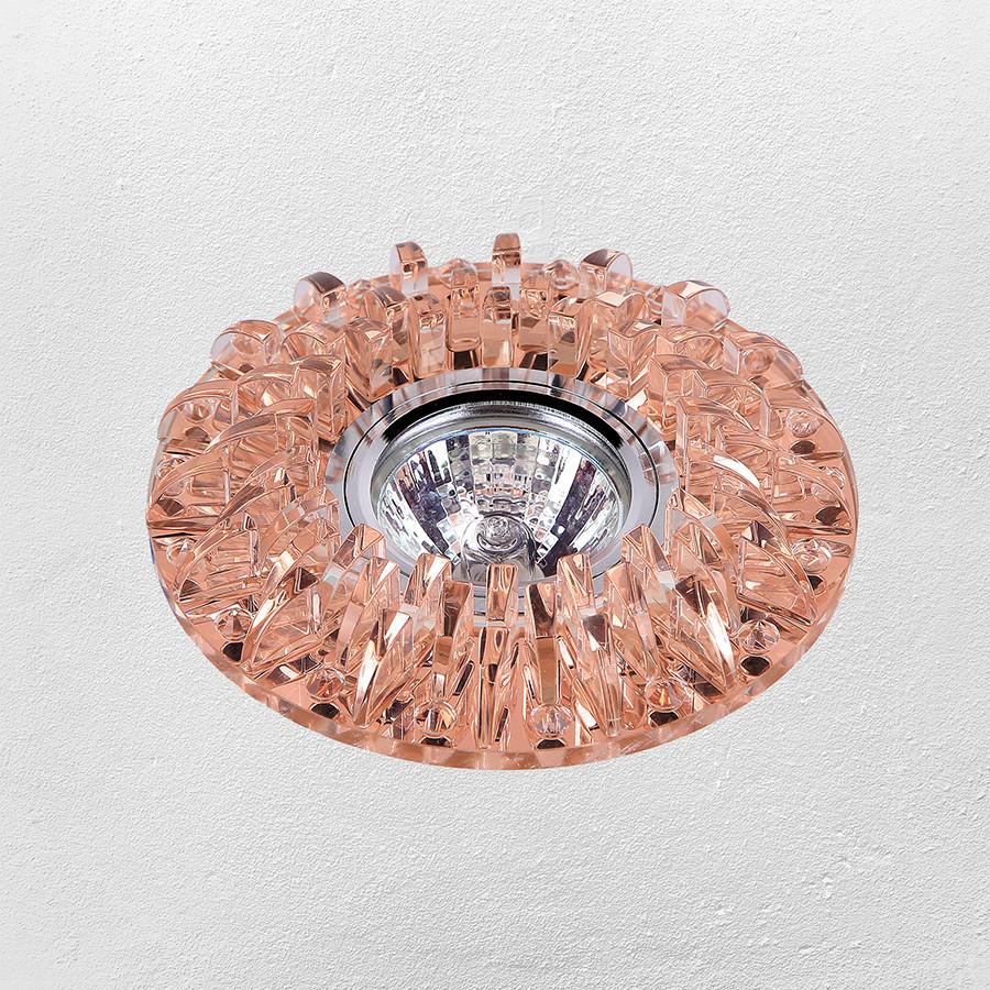 Точечный врезной светильник (модель 16- B029 коричневый)