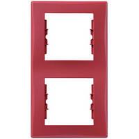 Рамка двухместная Schneider Electric Sedna вертикальная Красный SDN5801141