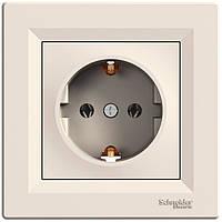 Розетка с заземляющим контактом 16А Schneider Electric Asfora Кремовый EPH2900123