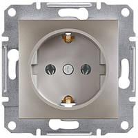 Розетка с заземляющим контактом 16А Schneider Electric Asfora Бронза EPH2900169