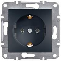 Розетка с заземляющим контактом 16А Schneider Electric Asfora Антрацит EPH2900171