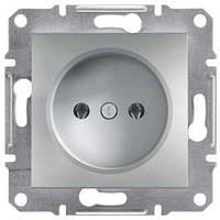 Розетка без заземляющего контакта 16А Schneider Electric Asfora Алюминий EPH3000161