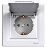 Розетка с крышкой и заземляющим контактом IP20 16А Schneider Electric Asfora Белый EPH3100121