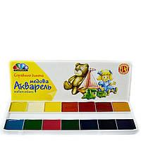 Акварель медовая Гамма 14 цветов картонная коробка