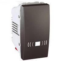 """Выключатель одноклавишный кнопочный """"Звонок"""" 1 модуль Schneider Electric Unica 10А Графит MGU3.106.12C"""