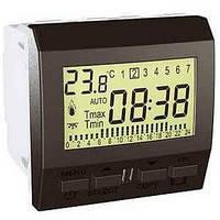 Термостат программируемый для кондиционера или отопления 8А НО+НЗ 2 модуля Schneider Electric Unica Графит MGU3.505.12