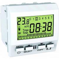 Термостат программируемый для кондиционера или отопления 8А НО+НЗ 2 модуля Schneider Electric Unica Белый MGU3.505.18