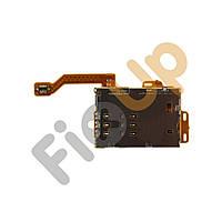 Шлейф для Nokia C7, N8 с держателем (разъемом) SIM карты и карты памяти