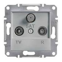 Розетка телевизионная + радио + спутник проходная Schneider Electric Asfora 8 dB Алюминий EPH3500361