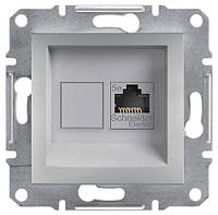 Розетка компьютерная RJ45 cat5e UTP Schneider Electric Asfora Алюминий EPH4300161