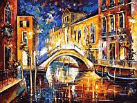 Рисование по номерам 40×50 см. Ночь в Венеции Художник Леонид Афремов