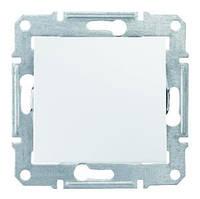 Выключатель двухполюсный одноклавишный Schneider Electric Sedna 16A Белый SDN0200221