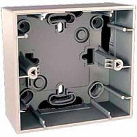 Коробка монтажная для наружной проводки 1 место Schneider Electric Unica Слоновая кость MGU8.002.25