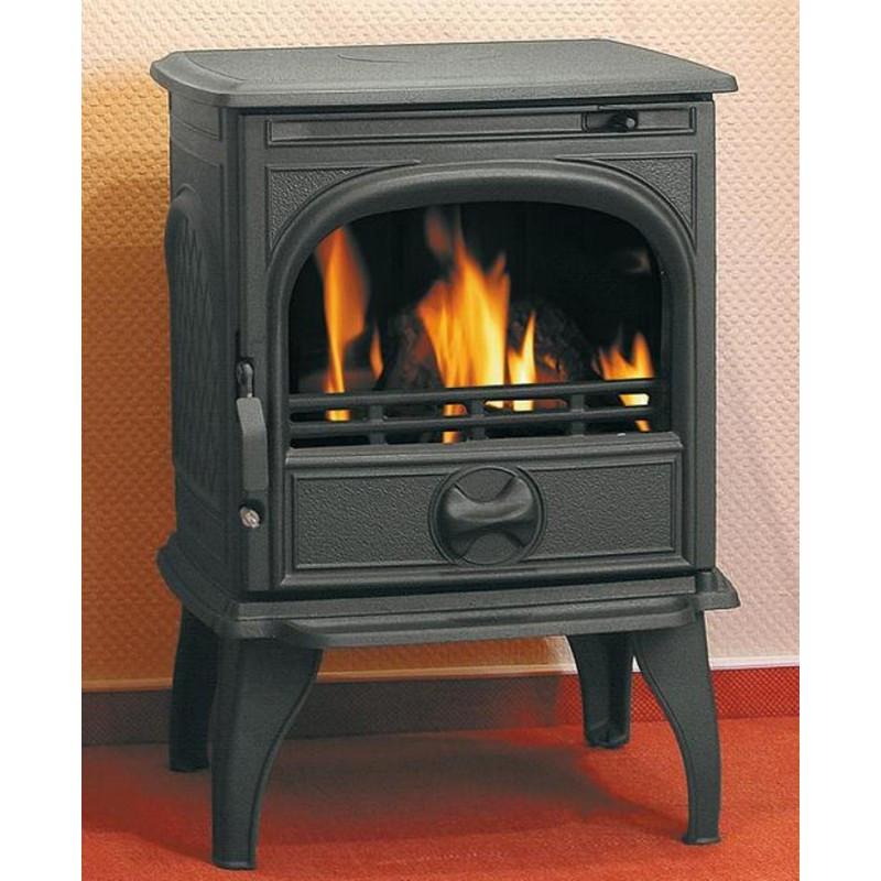 Чугунная мульти печь Dovre 250/E10 глянцевый черный - 6 кВт