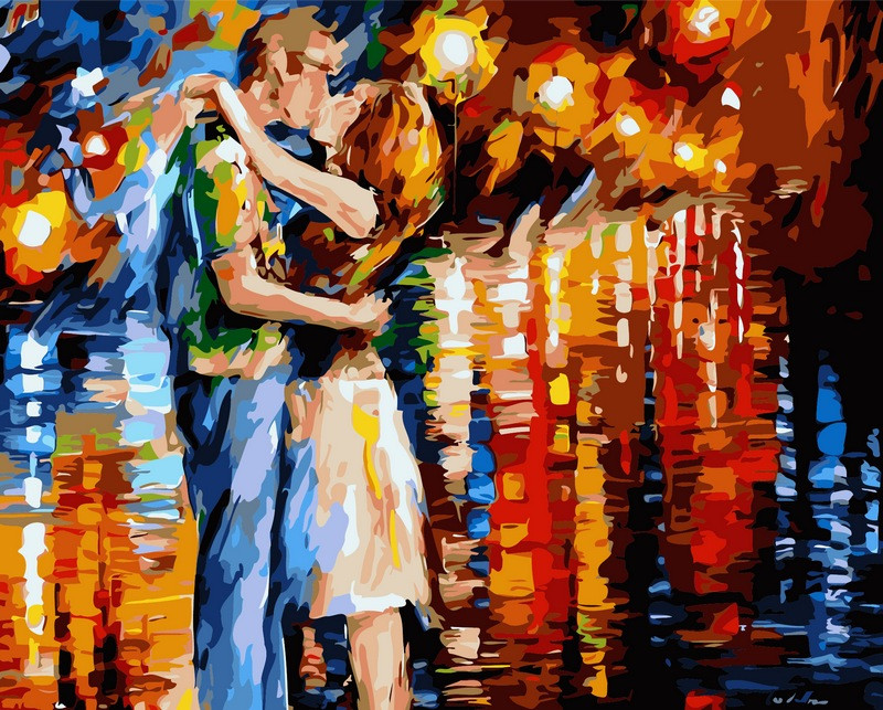 Раскраски для взрослых 40×50 см. Прощальный поцелуй Художник Леонид Афремов