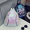 Маленький женский рюкзак в паетках, фото 9