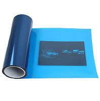 Тонировочная пленка синяя на авто защитная для тонировки фар самоклеющаяся (30х100, 1 метр) синего цвета