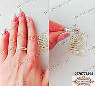 Серебряное кольцо с золотом и цирконом