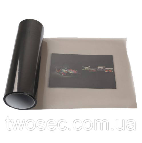 Тонировочная пленка черная на авто защитная для тонировки фар самоклеющаяся (30х100, 1 метр) черного цвета
