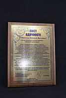 Наградные дипломы на металле