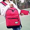 Школьный рюкзак в горошек с пеналом, фото 3