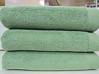 Полотенце махровое для лица зеленое микрокотон  Maison D'or