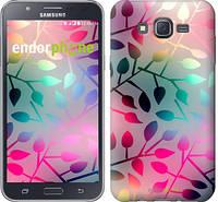 """Чехол на Samsung Galaxy J7 J700H Листья """"2235c-101"""""""