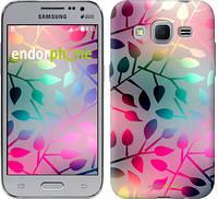 """Чехол на Samsung Galaxy J1 Mini J105H Листья """"2235c-258"""""""