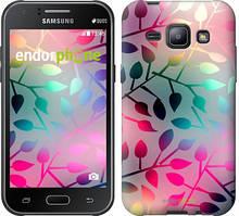 """Чехол на Samsung Galaxy J1 J100H Листья """"2235c-104"""""""