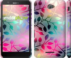 """Чохол на Sony Xperia E4 Dual Листя """"2235c-87"""""""