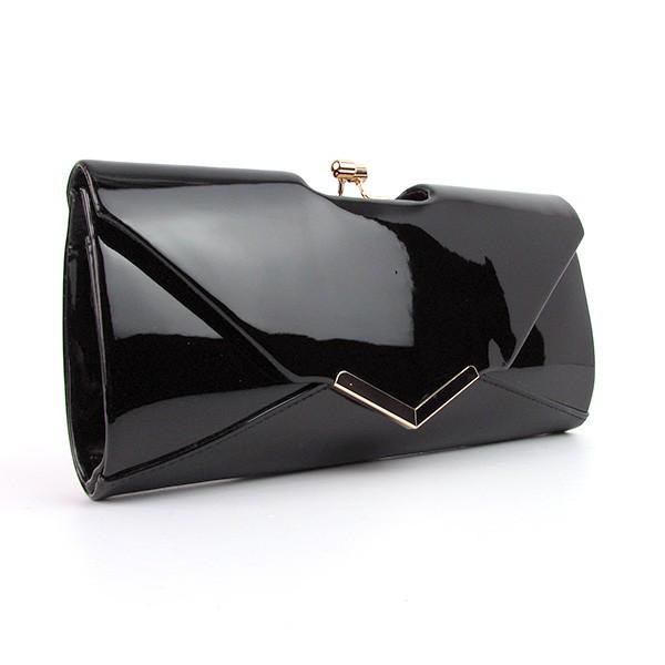 0869a7f030d0 Клатч женский лаковый черный вечерний на цепочке: продажа, цена в ...