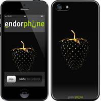"Чохол на iPhone SE Чорний полуниця ""3585c-214"""