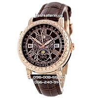 Часы Patek Philippe Sky Moon Tourbillon Quartz Ref. 6002 brown/gold/brown. Replica: ААА., фото 1
