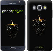 "Чехол на Samsung Galaxy J5 (2016) J510H Черная клубника ""3585c-264"""