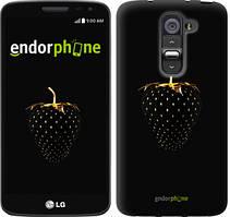 """Чехол на LG G2 mini D618 Черная клубника """"3585u-304"""""""