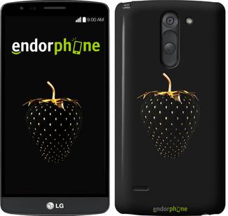 "Чехол на LG G3 Stylus D690 Черная клубника ""3585c-89"""