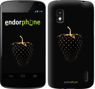 """Чехол на LG Nexus 4 E960 Черная клубника """"3585u-203"""""""