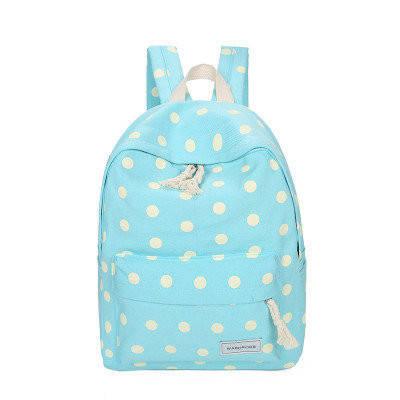 Рюкзак в горошек для школы