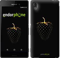 """Чохол на Sony Xperia C4 Чорна полуниця """"3585u-295"""""""