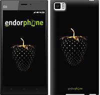 "Чохол на Xiaomi Mi3 Чорна полуниця ""3585u-170"""
