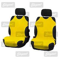 Майки сидения передние Elegant 105245 желтые х/б