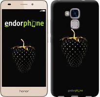 """Чохол на Huawei Honor 5C Чорна полуниця """"3585u-356"""""""