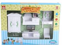 """Игровой набор """"Happy Family"""" (аналог Sylvanian Families) - мебель для гостиной."""